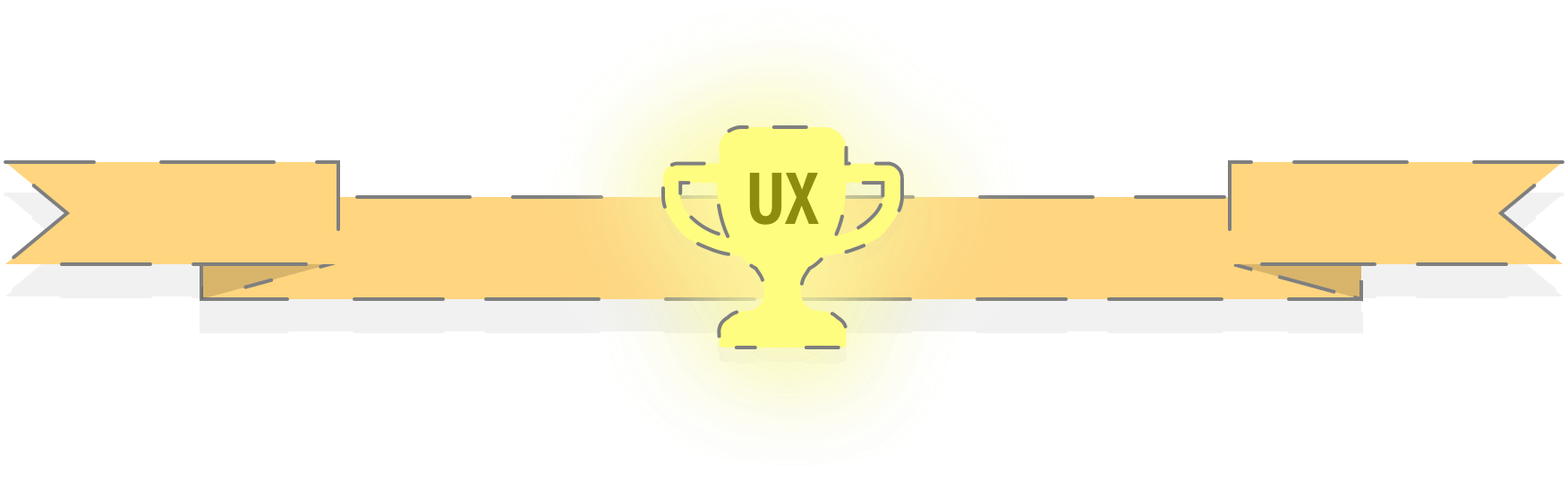 Glowing UX trophy