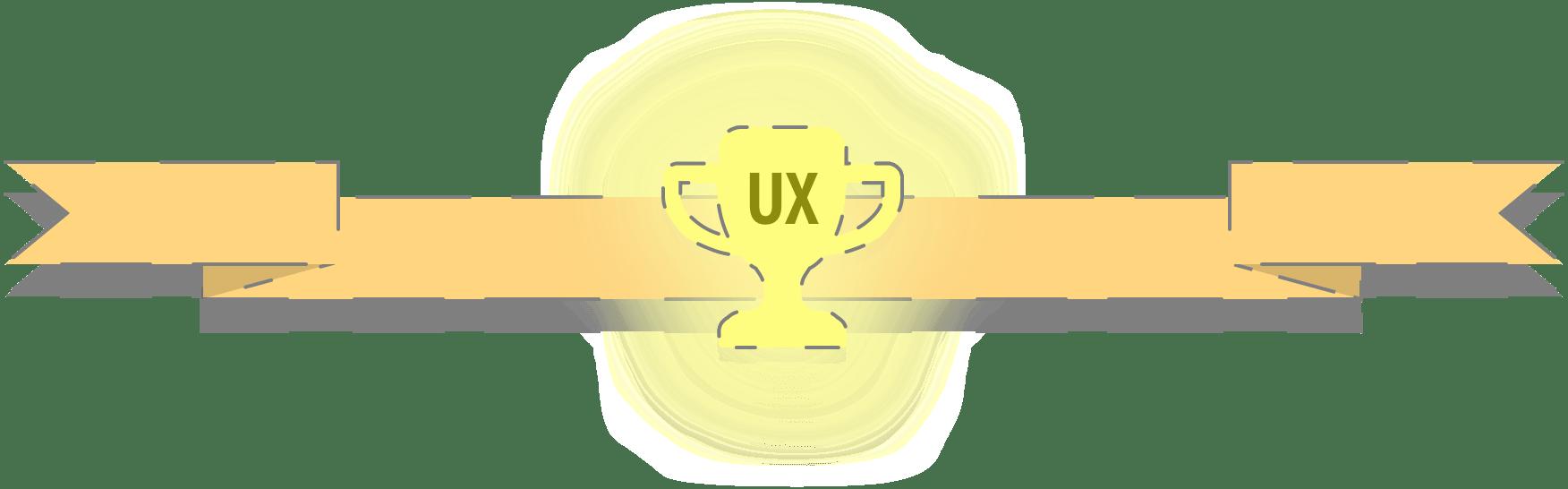 Glowing UX trophy