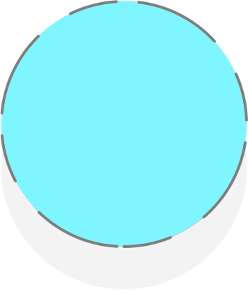 A blue circle